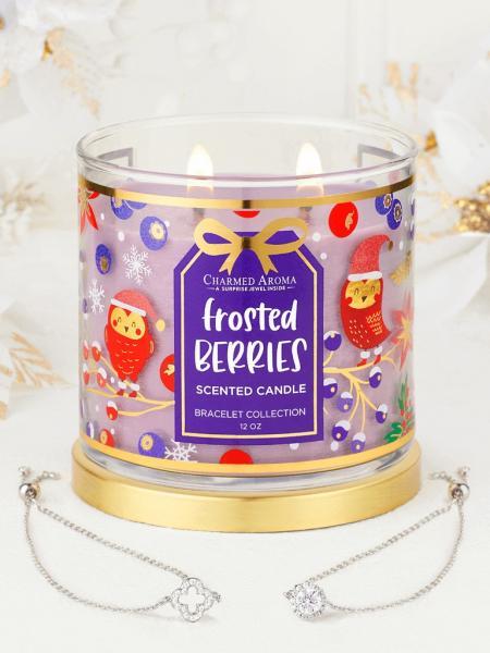 Charmed Aroma - Duftkerze mit Schmuck - Frosted Berries Kerze (Armband)