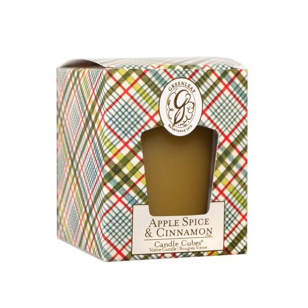 Greenleaf - Candle Cube Votivkerze - Duftkerze - Apple Spice & Cinnamon