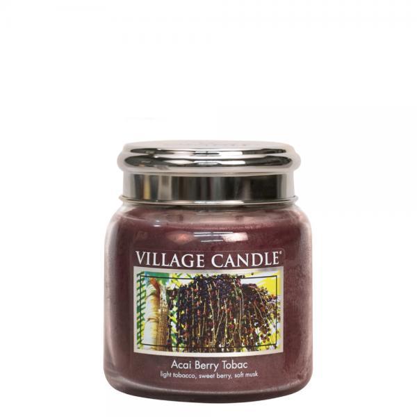 Village Candle - Medium Glass Jar - Acai Berry Tabac º*