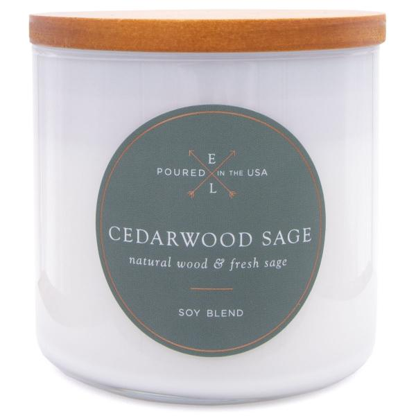 Colonial Candle - Mittlere Duftkerze im Glas - Everyday Luxe - Holzdocht Cedarwood Sage