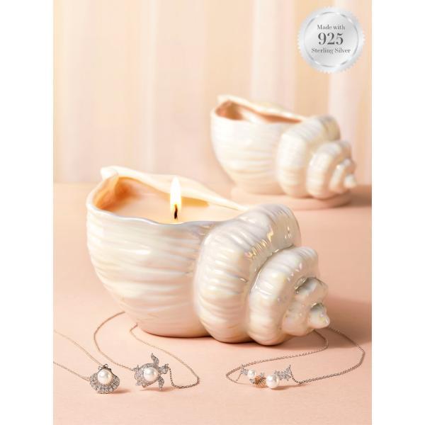 Charmed Aroma - Duftkerze mit Schmuck - Muschel/Seashell (Halskette)
