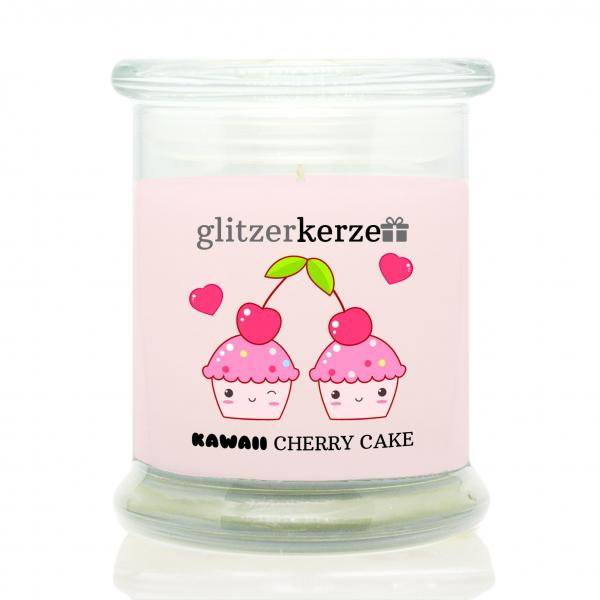 glitzerkerze - Duftkerze - kawaii Cherry Cake