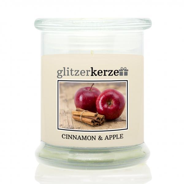 glitzerkerze - Duftkerze - Cinnamon & Apple