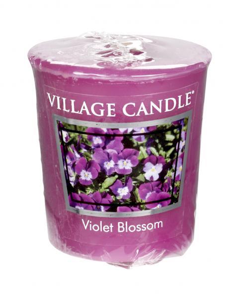 Village Candle - Votivkerze - Violet Blossom