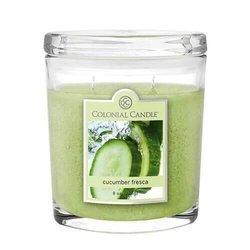 Colonial Candle - Kleine Duftkerze im Glas - Oval Collection - Cucumber Fresca