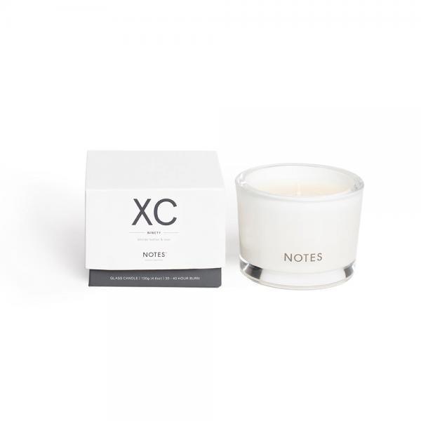 NOTES - Small Candle Glass - Duftkerze - XC - Ninety - Blonde Leather & Rose