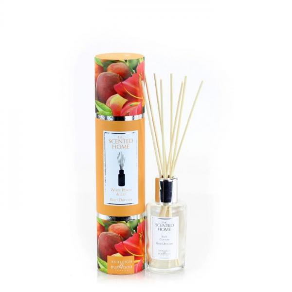 Ashleigh & Burwood - The Scented Home - Reed Diffuser - White Peach & Lily