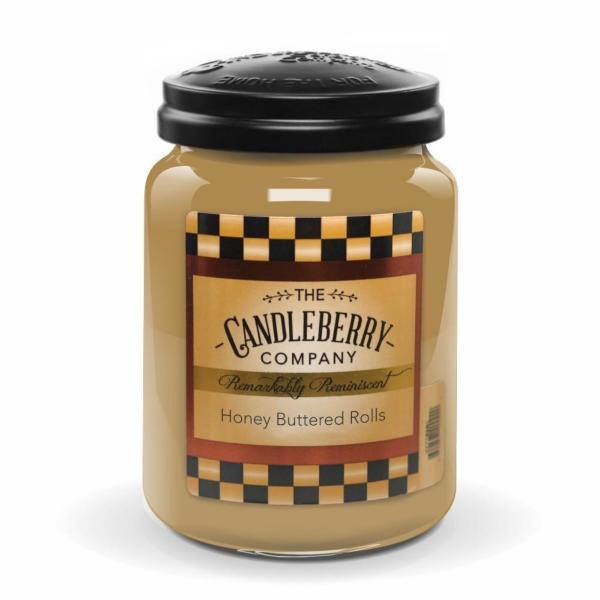 Candleberry - Duftkerze im Glas - Honey Buttered Rolls