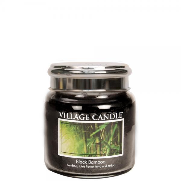 Village Candle - Medium Glass Jar - Black Bamboo