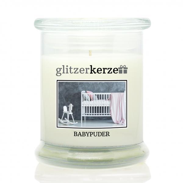 glitzerkerze - Duftkerze - Babypuder