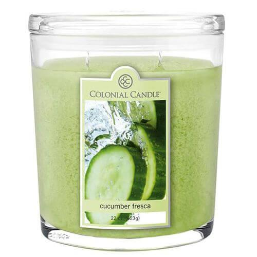 Colonial Candle - Große Duftkerze im Glas - Oval Collection - Cucumber Fresca