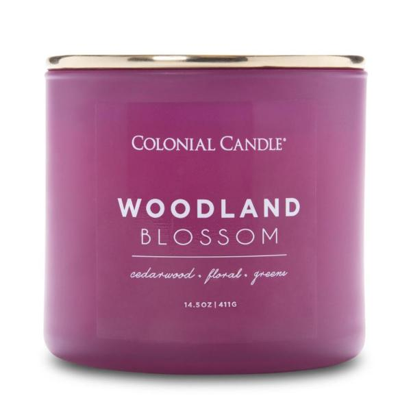 Colonial Candle - Mittlere Duftkerze im Glas - Pop of Color - Woodland Blossom