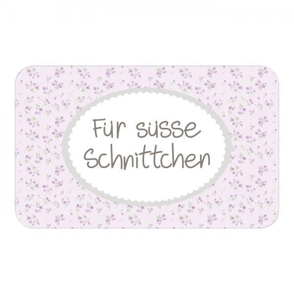 """Mea-Living - Brettchen """"Für süsse Schnittchen"""""""