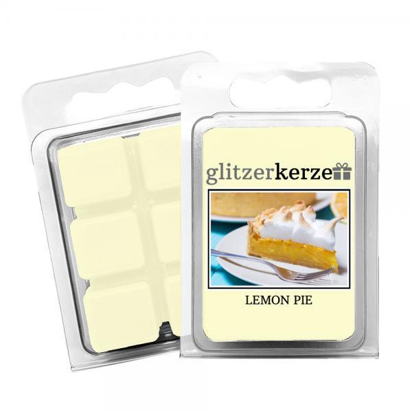 glitzerkerze - Duftwachs Lemon Pie