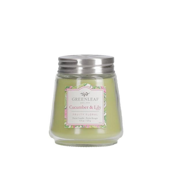 Greenleaf - Duftkerze im Glas - Petite Candle - Cucumber & Lily
