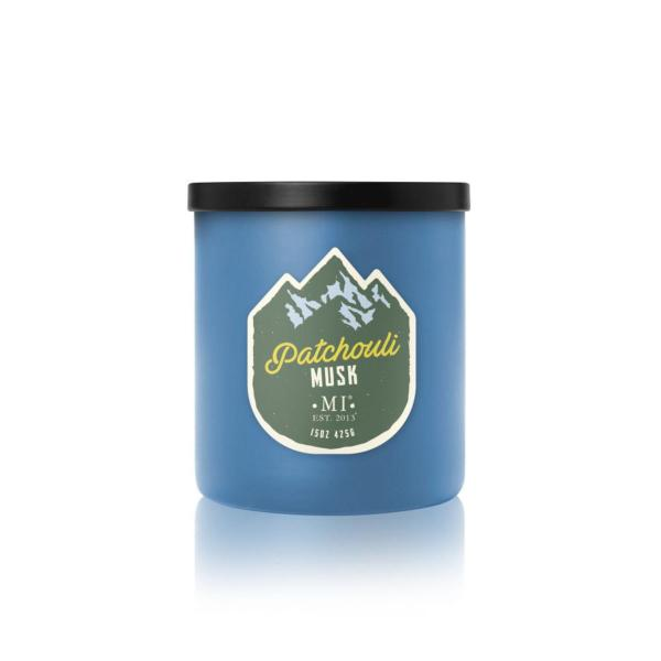 Colonial Candle - Mittlere Duftkerze im Glas - All American - Patchouli Musk