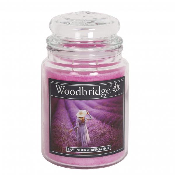 Woodbridge Candle - Große Duftkerze im Glas - Lavender & Bergamot