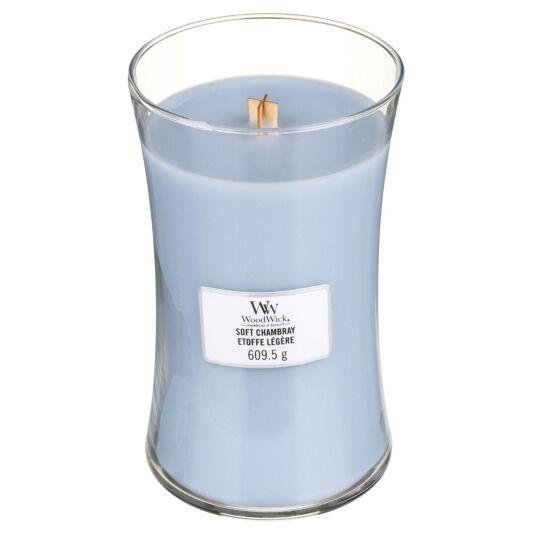 WoodWick - Large Hourglass Duftkerze - Soft Chambray