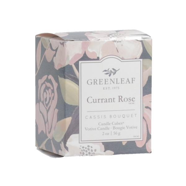 Greenleaf - Candle Cube Votivkerze - Duftkerze - Currant Rose