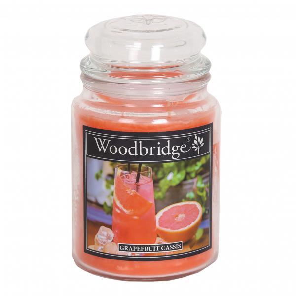 Woodbridge Candle - Große Duftkerze im Glas - Grapefruit Cassis