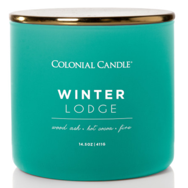 Colonial Candle - Mittlere Duftkerze im Glas - Pop of Color - Winter Lodge